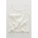 Glamorous Womens Solid Color Crew Neck Sleeveless Slim Fit Crop Cami Top