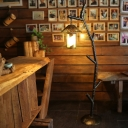 Branching Dining Room Floor Standing Lamp Rustic Metallic 1 Light Black Floor Light