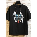 Mens Tee Top Stylish Gorilla Letter Pattern Round Neck Regular Fit Short Sleeve Graphic Tee Top