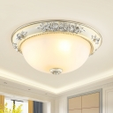 Traditional Domed Ceiling Mounted Fixture 2/3 Heads 12