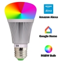 Plastic Silver Smart Edison Bulb 1pc 7 W E26/E27 Color Changing Replacement Light with 22 LED Beads