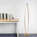 Acrylic Oblong Frame Stand Up Light Modern LED White Reading Floor Lamp in White/Warm/Natural Light