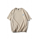 Letter Geo Graphic Short Sleeve Crew Neck Oversize Leisure Tee Top for Guys