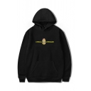 Letter Lyrical Lemonade Box Graphic Long Sleeve Relaxed Fit Trendy Hoodie with Pocket