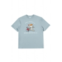 Chic Letter 666th Zototo Co Rabbit Graphic Short Sleeve Crew Neck Relaxed T Shirt