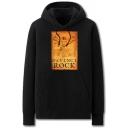 Fancy Mens Character Letter Davinci Rock Printed Pocket Drawstring Long Sleeve Regular Fit Graphic Hooded Sweatshirt