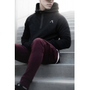 Cozy Mens Hooded Sweatshirt Patterned Zipper Long Sleeve Regular Fitted Hooded Sweatshirt with Pocket