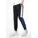 New Stylish Cool Letter LOGO Printed Tape Side Drawstring Waist Casual Unisex Black Track Pants Joggers