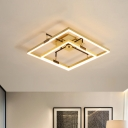 Acrylic Double Square Flush Ceiling Light Modern 19.5