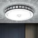 Disc Shaped Inlaid Crystal Ceiling Flush Minimalist 16