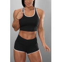 Athleta Womens Contrasted Pipe High Waist Skinny Shorts