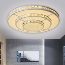 Layered Round Flush Mount Simplicity Beveled Crystal 18