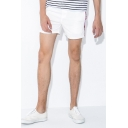 Trendy Shorts Camo Pattern Tape Pocket Drawstring Mid Rise Regular Fitted Shorts for Men