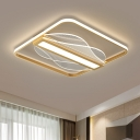 Acrylic Rectangle and Square Flush Light Contemporary 18