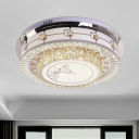 LED Modern Ceiling Fixture with Beveled Glass Shade Clear Butterfly Flush Ceiling Light for Great Room