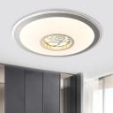 Crystal Flower/Moon/Loving Heart LED Flush Mount Fixture Modern White Ceiling Lighting for Sleeping Room