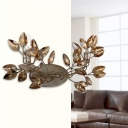 Branching Wall Mount Lighting Art Deco Amber Crystal 2 Bulbs Bronze Sconce Lamp Fixture