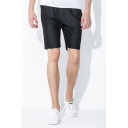 Cool Shorts Solid Color Pocket Drawstring Mid Rise Regular Fitted Shorts for Men