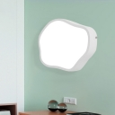 Geometric Acrylic Flush Wall Sconce Macaron White/Grey/Green Finish LED Wall Mounted Light Fixture
