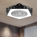 Macaron Pentagon Fan Flush Lighting Metal 21.5