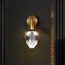 Teardrop Crystal LED Sconce Lighting Post-Modern Bedside Wall Mount Light in Gold