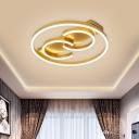 Ring Bedroom Semi Flush Metal 18