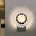 Sunflower Bedside Wall Lighting Ideas Simple Crystal LED Clear Wall Light Sconce