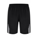 Mens Simple Relax Shorts Vertical Stripe Pattern Pocket Drawstring Mid Waist over the Knee Fitted Relax Shorts