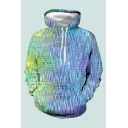 Hot Popular Space Dye Print Poacket Drawstring Hooded Relaxed Fit Hoodie