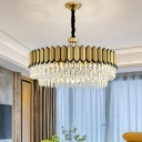 2-Layer Round Crystal Chandelier Post-Modern Living Room 18