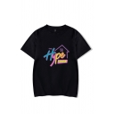 Fashion Letter The Hype House Graphic Short Sleeve Crew Neck Loose Tee Top for Girls