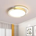 Acrylic Rounded Flush Mount Light Minimalist 18