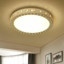 Crystal Drum Shade Flush Light Simple Style 19.5