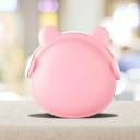 Macaron Bear Small Plug-in Night Light Plastic Bedroom LED Wall Nightlight in Pink/White/Blue