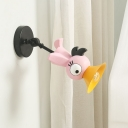 Pink Bird Wall Light Fixture Cartoon LED Metallic Wall Mount Lamp with Adjustable Arm