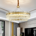 Double-Layered Ceiling Chandelier Contemporary Crystal 18