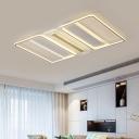 Clear Rectangular Semi Flush Light Contemporary LED Acrylic Flush Mount Lighting in Warm/White Light