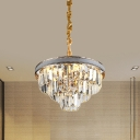 Conical Clear Crystal Chandelier Pendant Modern 18