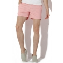 Leisure Mens Shorts Solid Color Pocket Drawstring Mid Rise Regular Fitted Shorts
