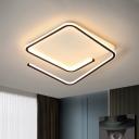 Minimalist Geometry Flush Mount Lamp Acrylic 16