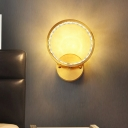 Gold Halo Ring Wall Light Kit Minimalistic Crystal Bedside LED Wall Mount Lighting Fixture