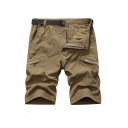 Men's Summer New Fashion Letter Pattern Multi-pocket Design Outdoor Quick-drying Sports Cargo Shorts