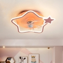 Metal Star/Round Hanging Fan Light Cartoon 18