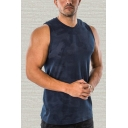 Novelty Mens Tank Top Camouflage Sleeveless Round Neck Slim Fitted Tank Top