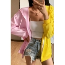 Fashion Girls Color Block Long Sleeve Drawstring Zip Up Loose Fit Hoodie
