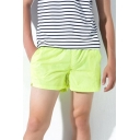 Stylish Mens Solid Color Elasticated Drawstring Waist Split Side Mid Rise Straight Fit Track Shorts