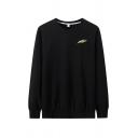 Mens Pullover Sweatshirt Unique Feather Pen Pattern Cuffed Regular Fit Long Sleeve Crew Neck Pullover Sweatshirt