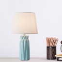 Fabric Conical Shade Night Table Light Modernist 1-Bulb Task Lighting in Pink/Blue for Kids Bedroom