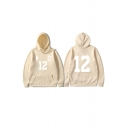 Mens Unique Hoodie Footprint Number Chinese Letter Pattern Cuffed Kangaroo Pocket Drawstring Long Sleeve Relaxed Fitted Hoodie
