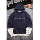 Cool Street Boys' LIVELY ATTITUDE Letter Printed Colorblocked Loose Fit Drawstring Hoodie